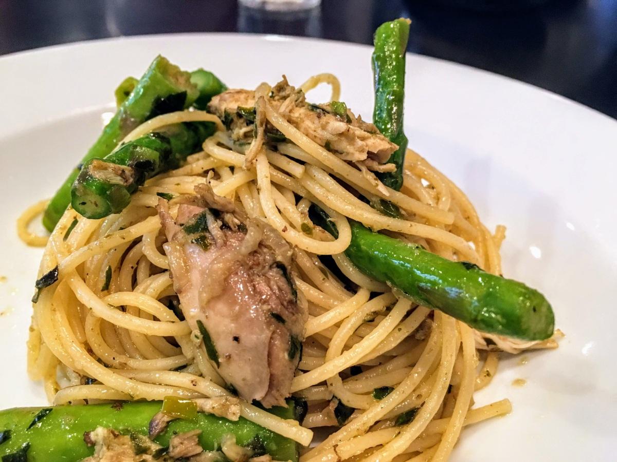 Pesto Pasta w/ Chicken +Asparagus