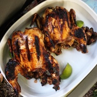 Hoisin Grilled Cornish Game Hens
